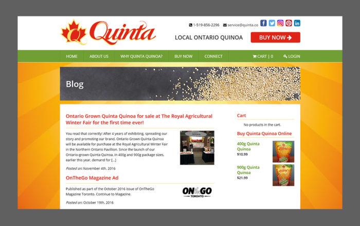 Quinta Blog Page